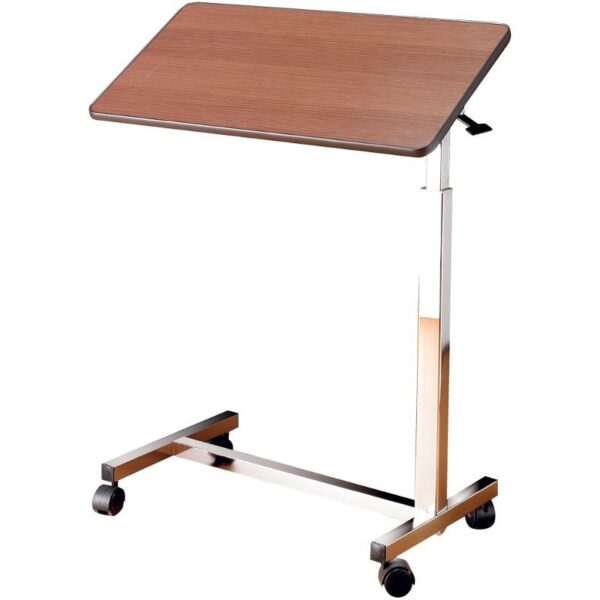Mesa auxiliar abatible y regulable para la cama y el sof - Mesa auxiliar con ruedas ...