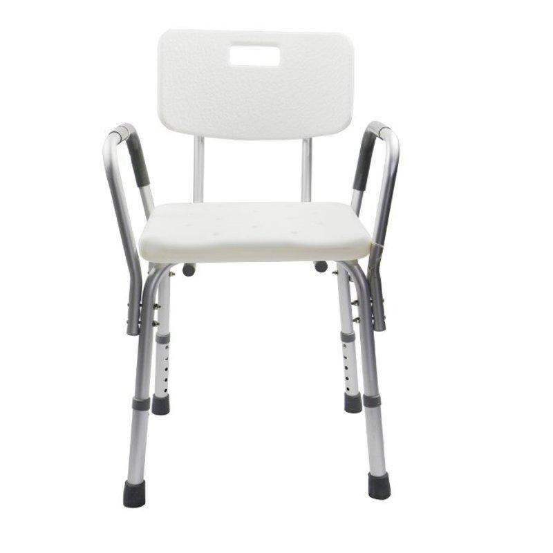 Silla de ba o con brazos y respaldo hecha de aluminio - Silla de bano ortopedica ...